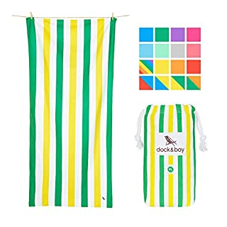 Dock & Bay Beach Towel Backpacking Gear XL - Australian Heatwave, Extra Large (200x90cm) - beach travel towels & camping towels