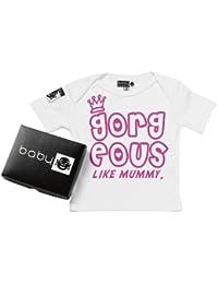 Baby Buddha - Gorgeous Like Mummy Baby T-Shirt Bio-baumwolle & Geschenkkarton