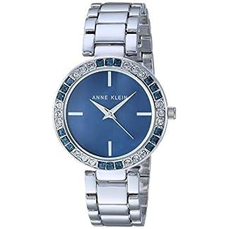 Anne Klein Women's AK/3359BMSV Swarovski Crystal Accented Silver-Tone Bracelet Watch