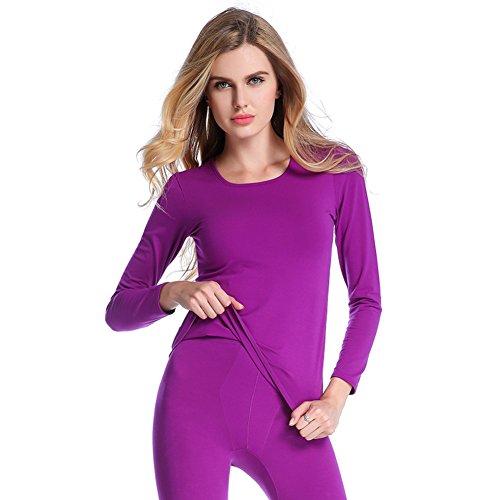 thermal underwear/ abiti femminili/colore solido semplice in autunno e in inverno il comfort supporto Kit/ fall abbigliamento mutandoni completo B