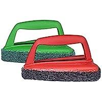 Scotch-Brite Fibre Bathroom Scrubber Brush and Jet Tough Brush (Multicolour)