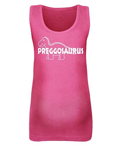 Femmes de preggosaurus de maternité pour femme–Disponible en différentes couleurs - Fuchsia Pink / White Print