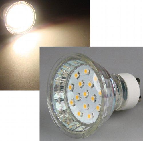 "LED Strahler GU10 \""H10 SMD\"" 15 SMD LEDs"