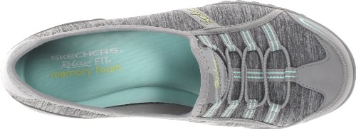Skechers Breathe-Easy Good Life, Baskets Basses Femme Gray/Aqua