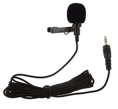 Brobeat-35MM-Clip-On-Mini-Lapel-Lavalier-Microphone-for-AndroidiOS-Devices-Black
