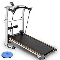 Household Treadmill, Folding, Super Shock Absorption, Slope Adjustment, Multi-function Sports (Color : Black)