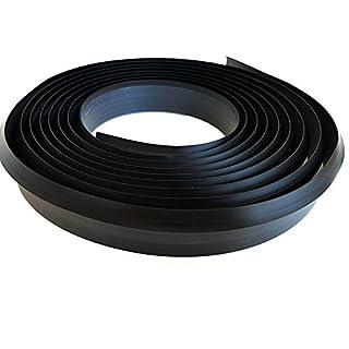 4.2 M Flexible Worktop Seal Strip Trim Kitchen cupboards Bath Free Delivery TMW Profiels (Black)