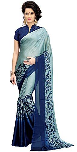Vatsla Enterprise Women's Silk Saree (VZACTSLA23GREY_GREY)