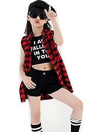 Wgwioo Cuentos De Hip-Hop para Niños Chicas De Rendimiento Elegante Etapa  De Juventud De Marea Cómodo Coro De Equipo Danza 46cfdc0a475
