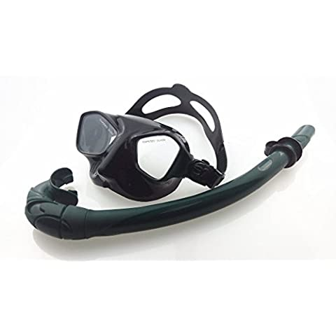 eFithy Adult Swimming Scuba Dive Swimming/Diving Goggles Mask and Snorkel Set Black¡