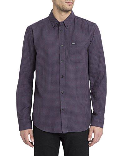 rvca-uomo-chemise-col-button-down-thatll-do-twist-bordeaux-pour-homme-