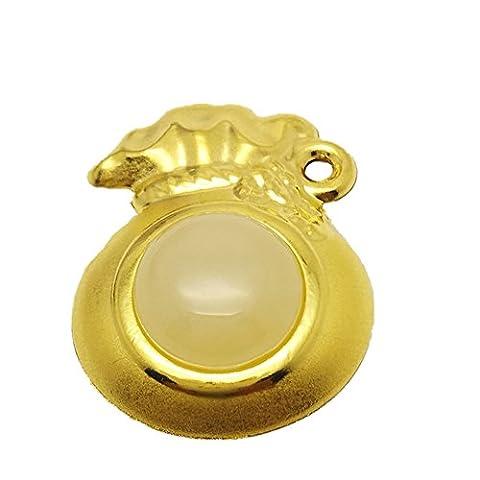 LIVRAISON GRATUITE Antar Style chinois bénédiction Purse Grade A jadéite Jade Au4876