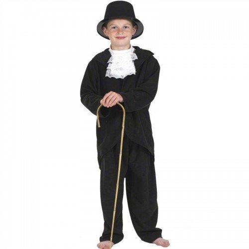 Jungen Schwarz Weiß Reich Victorian Charles Dickens Book Day Kostüm Ausrüstung 7-9 (Viktorianischen Kostüme Charles Dickens)