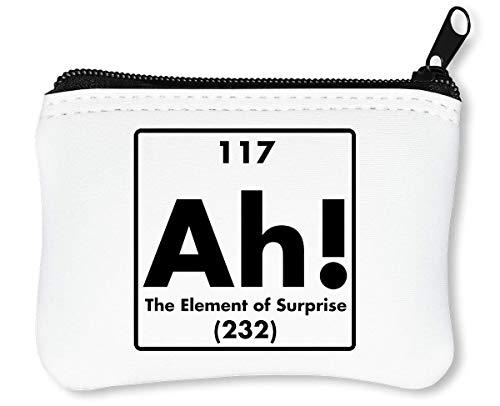 Ah Element of Surprise Reißverschluss-Geldbörse Brieftasche Geldbörse