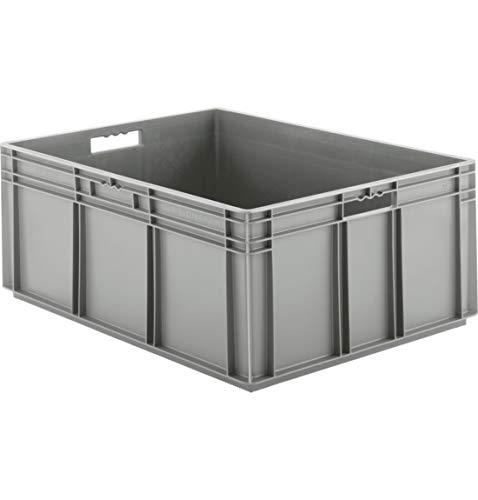 SSI Schäfer EF 8320 Eurokiste Kunststoffbox Transportbox offen ohne Deckel, 800x600 mm, 122 l, 35 Kg Tragkraft, Made in Germany, Grau