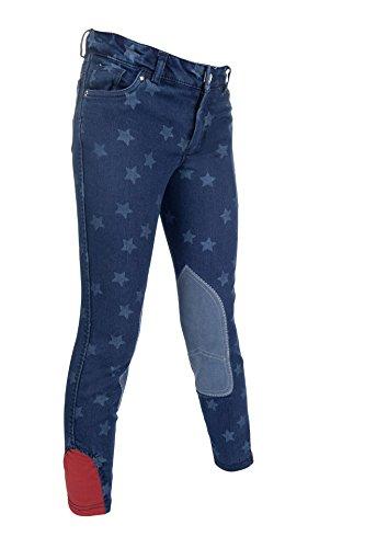 Bibi & Tina Damen Jeans-Reithose Stars, Jeansblau, 134
