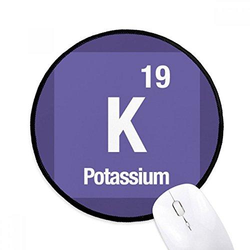 DIYthinker K Kalium chemisches Element chem Runde Griffige Mousepads Schwarz Titched Kanten Spiel Büro-Geschenk
