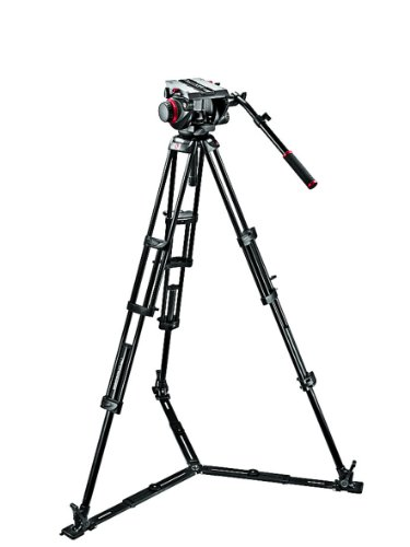 Manfrotto 509HD-545GBK - Kit de vídeo (trípode PRO 545GB, rótula 509HD), negro