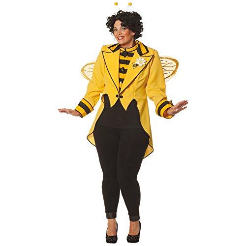 Honig Erwachsene Biene Kostüm Damen Für - NEU Damen-Kostüm Bienen-Frack, gelb, Gr. 54-56
