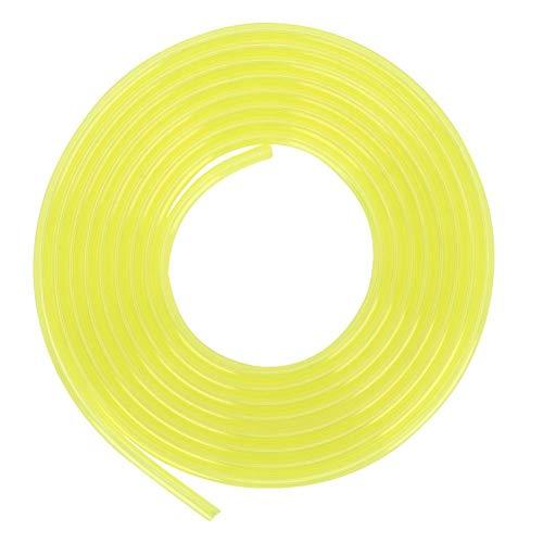 Cafopgrill 3 Meter Kraftstoffleitungen, Schlauch Vergaser Kraftstoffleitung Benzinschlauch Rasenmäher Trimmer Zubehör für Rasenmäher Strimmer und Kettensägen , Gelb(3 * 5mm)