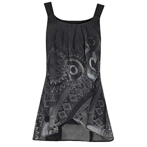 KIMODO T Shirt Damen Sommer Blusen Damen Weste Lose V-Ausschnitt Tank Top Große Größe Mode ()