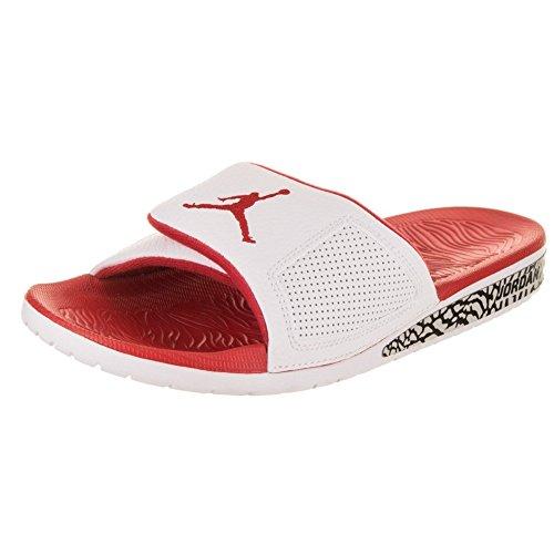 Jordan Sandalen – Hydro III Retro Weiß/Rot/Grau Größe: 46