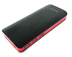 Lapguard Sailing-1510 Power Bank 13000 mAh Make In India portable Charger powerbank -Black-Red