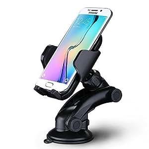 Mpow Supporto Auto Smartphone Culla Regolabile per Cruscotto Dashboard Parabrezza, Porta Cellulare con Forte Sticky, Gel Pad per iPhone 7 7 plus 6s Plus 6s 6 Plus 6 5s 5c 5 4s, Samsung Galaxy S6 Edge + S6 S5 S4 S3, Note 4 3 2, Sony, Huawei, Xiaomi ecc