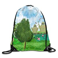 Michael Staton Drawstring Bag Fantastic Frogs Rucksack For Gym Hiking Travel Unique