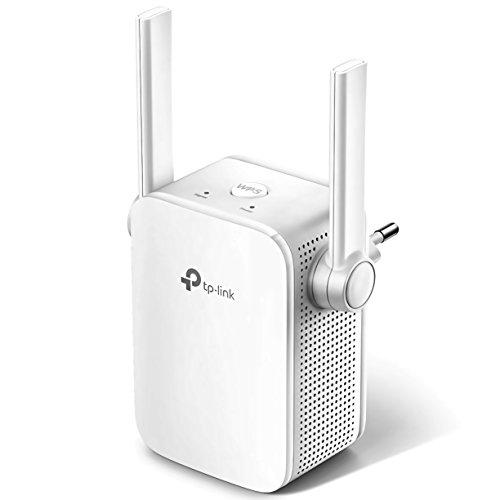 TP-Link TL-WA855RE WLAN Repeater (300 Mbit/s, WLAN Verstärker, App Steuerung, Port, 2x flexible externe Antennen, WPS, AP Modus, kompatibel zu allen WLAN Geräten) weiß