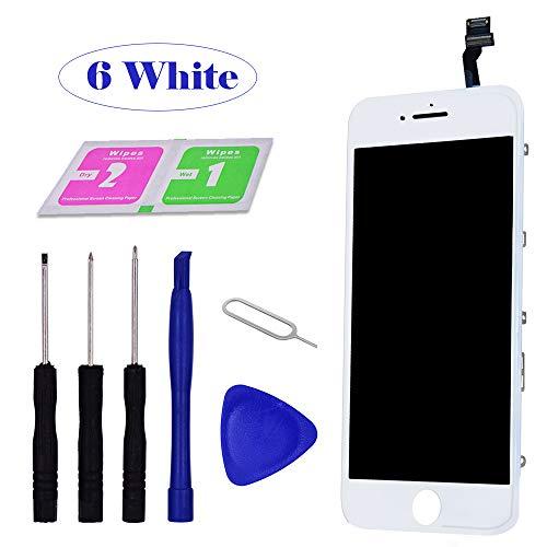 Guo duo Ersatz Für iPhone 6 Display Weiß Touchscreen Bildschirm Glas mit eine illustrierten Reparaturanleitung & Komplettes Kostenlose Reparaturset