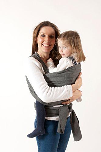 Premium Baby Sling Wrap; angenehm zu tragen; einfach zu verwenden; in grau und schwarz Farben; Baumwolle und Spandex; für Neugeborene und Säuglinge, die perfekt Baby Dusche Geschenk; Peace of Mind Garantie
