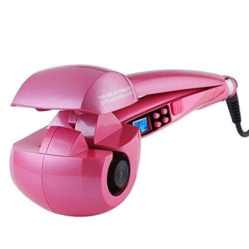 J-Power rizador de pelo automático pelo rizado Cabello con LCD Pantalla para cualquier pelo calidad, con un adaptador de Europa, color rosa