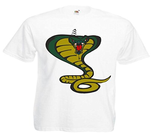 Motiv Fun T-Shirt Schlange Kobra Cartoon Spass Kult Film Serie Motiv Nr. 12600 Weiß