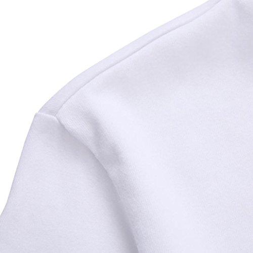 Oyedens Le Donne Più Le Ragazze Hanno Stampato La Maglietta Felpata In Cotone A Maniche Corte Bianca