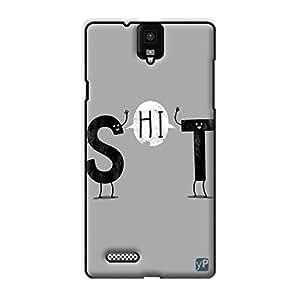 yP Shit Design Hard Back Case Cover for Infocus M330