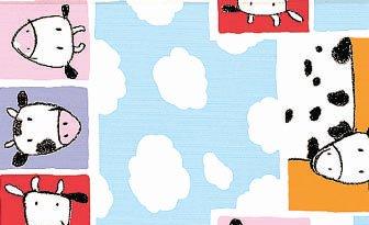 Tischdecke Wachstuch Kinder Motiv Kuh Arthur 140 breit Meterware