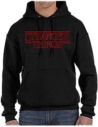 Desconocido Stranger Things - Sudadera con Capucha y Bolsillos