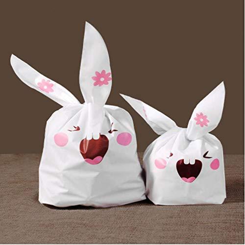Zonster 20pcs Süßigkeit Keks Taschen netten Kaninchen-Ohr-Geburtstags-Ostern-Partei-Geschenk-Beutel-Babyparty-Partei-Bevorzugungen Weihnachtspaket Taschen (Eine Partei-bevorzugungen Babyparty Für)