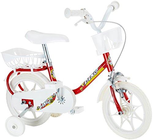 WDK PARTNER - A0700811 - Vélos et Véhicules pour enfants - Vélo 10 pouces blanc et rouge