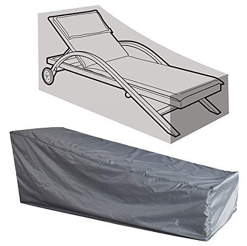 Kaxich impermeabile antivento sdraio copertura sdraio reclinabile copertura protettiva per mobili da giardino per uso esterno 208x 76x 41/79cm (208,3cm lx30wx16/31h)