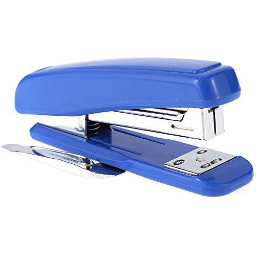 comix B2984Desktop Heftgerät Standard Hefter mit integrierter Entferner 25Blatt Kapazität Book Kanalisation Heften Maschine Rotary Wende Amboss Blau blau / grau