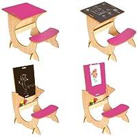 Preisvergleich für Little Helper ASI01-3 - 4-in-1 Holz ArtStation Kinder Schreibtisch mit beidseitig verwendbarer Kreidetafel und Staffelei Alles in Einem 24m+, natur/rosa