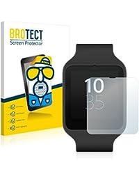 2x BROTECT Matte Protector Pantalla para Sony Smartwatch 3 SWR50 Protector Mate, Película Antireflejos