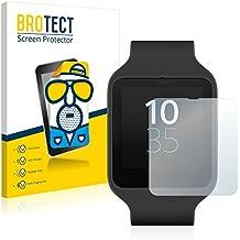 2x BROTECT Protector Pantalla para Sony Smartwatch 3 SWR50 - Mate, Película Antireflejos