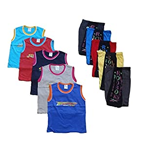 CH Fashion Kid's Cotton Crush T-Shirt and Shorts Set (Pack of 5)