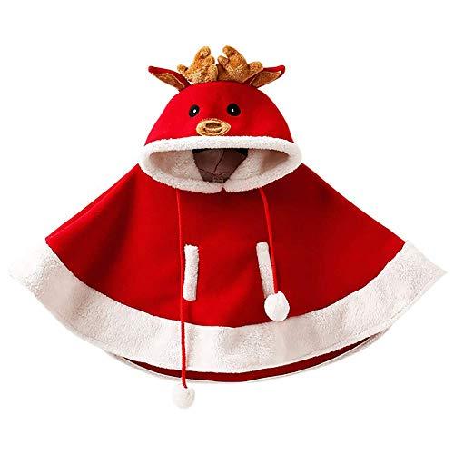 HLCE Baby Weihnachten Hoodie Cape Elch Muster Kostüm Weihnachten Mantel Kleid niedlich Hut Mädchen Geschenk Kleidung (größe : - Astrid Kostüm Muster