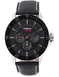Lorenz MK-1056A Trendy Black Colored Analog Watch For Men And Boys