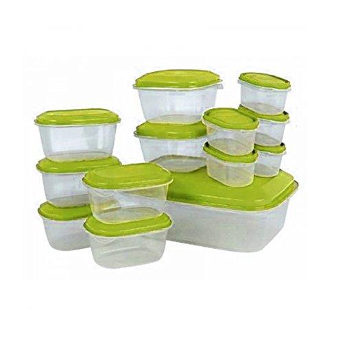 13 Frischhaltedosen Aufbewahrungsdose mit Deckel Set ver. Größen - spülmaschinenfest - Mikrowelle und zum Einfrieren geeignet