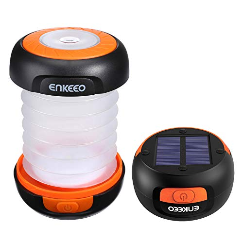 ENKEEO Mini Linterna Solar 140Lm Ligera Plegable Panel
